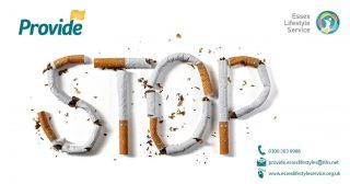 Essex Lifestyle Service STOP signs made out of cigarettes