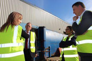 Priti Patel Local Visit to Essex Equipment Services