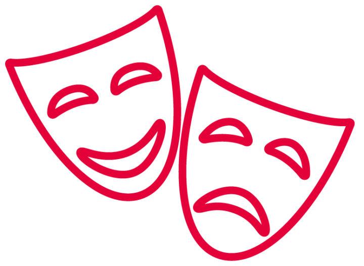 Happy sad masks