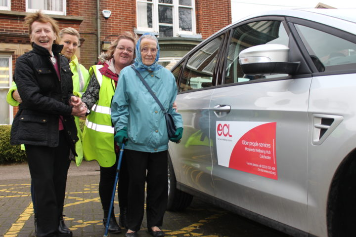 Customers and staff enjoying new transport scheme