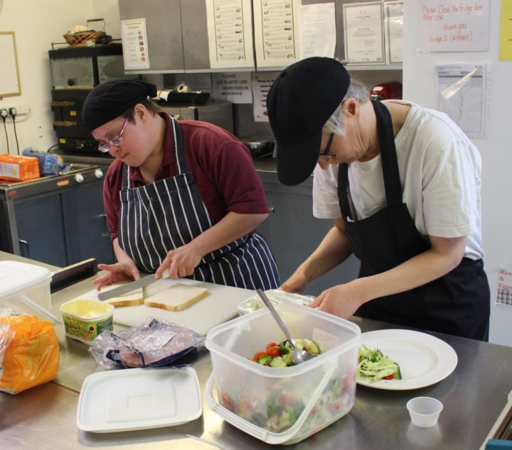 Kim-L-Helen-R-preparing-food-17.04.19-Roundwood