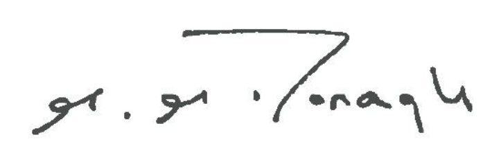 Signature of Michael McDonagh, Chairman, Essex Cares Ltd