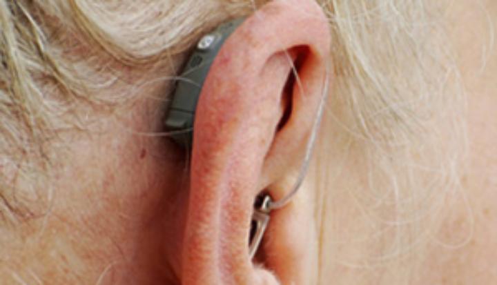 A hearing aid user