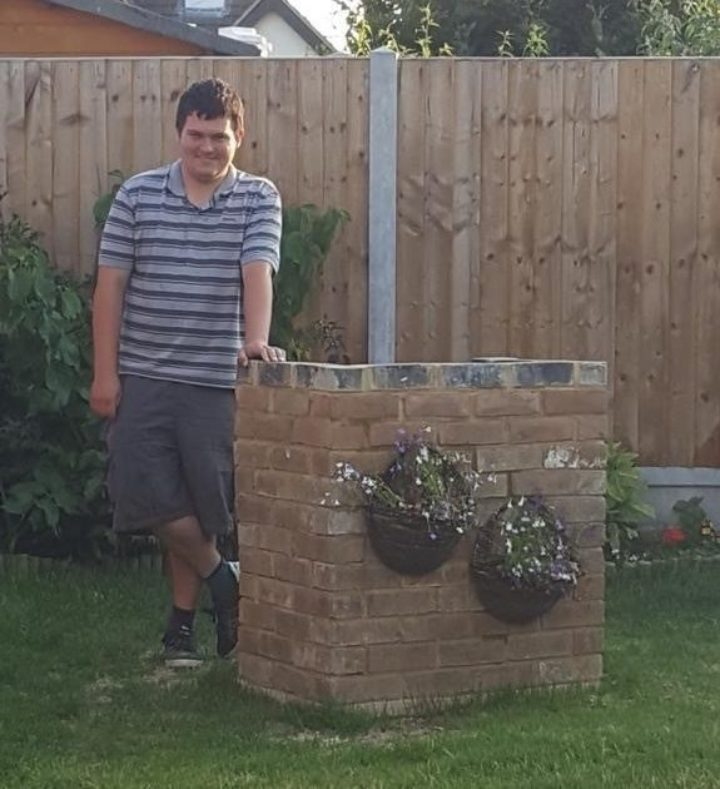 Picture of Nathan in his home garden.