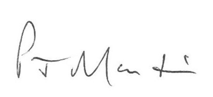 Signature of Peter Martin, Chairman, Essex Cares Ltd
