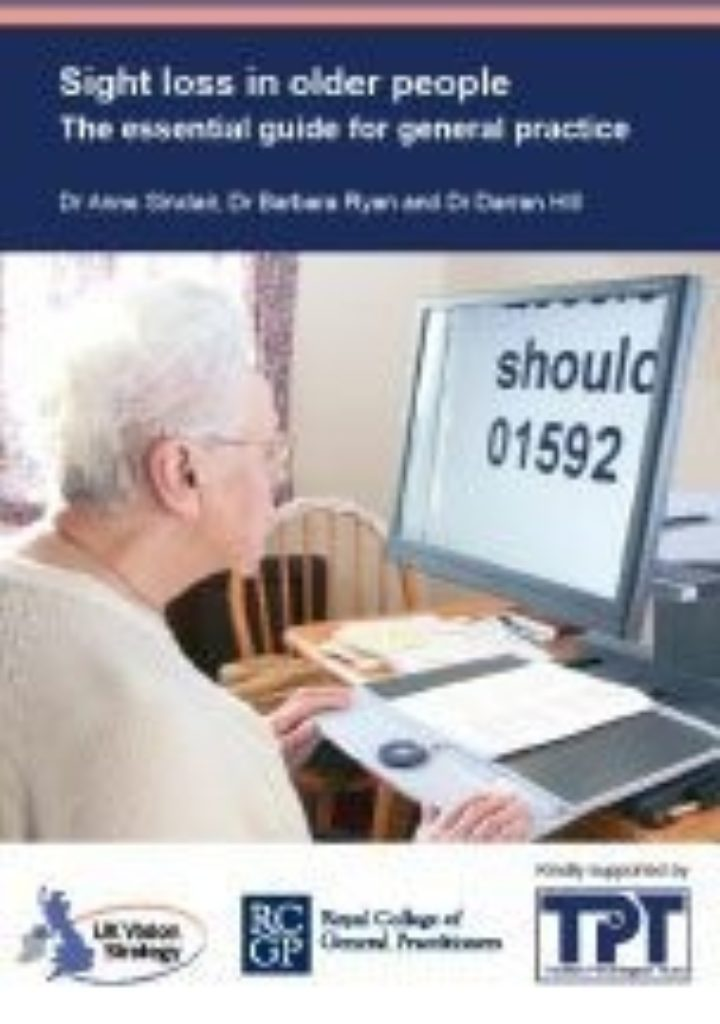 The Royal College of General Practitioners: Sight loss in older people - The essential guide for general practice