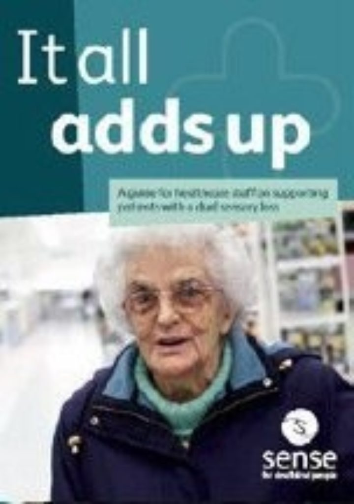 Sense: A guide for healthcare staff on supporting patients with a dual sensory loss