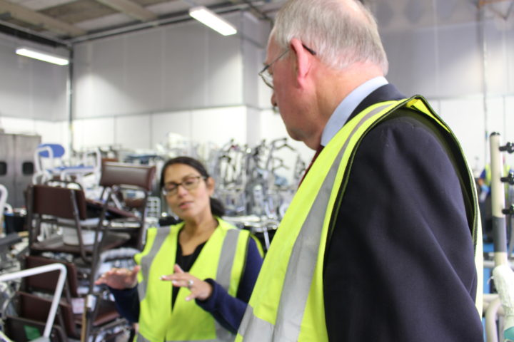 Priti Patel local visit to Essex Equipment Services