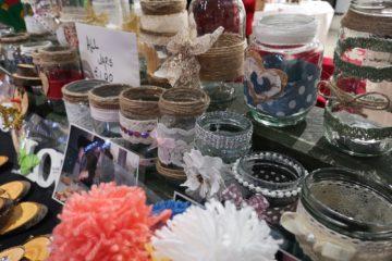 ECL Christmas fayre jar and basket stall.