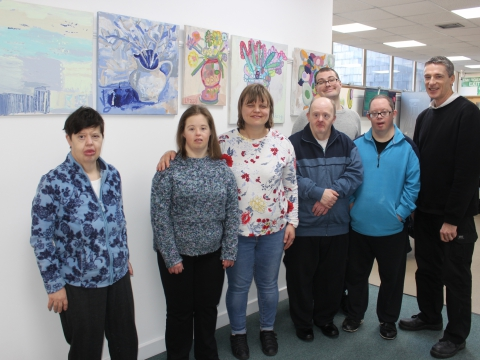 Budding artists brighten up library with exhibition