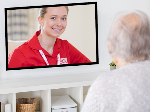 Can home care visits be replaced with video communication?